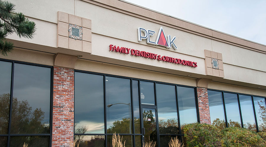 Peak Family Dentistry & Orthodontics outdoor sign