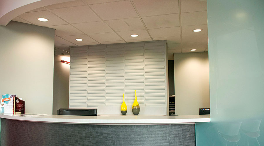 Welcoming front desk reception area