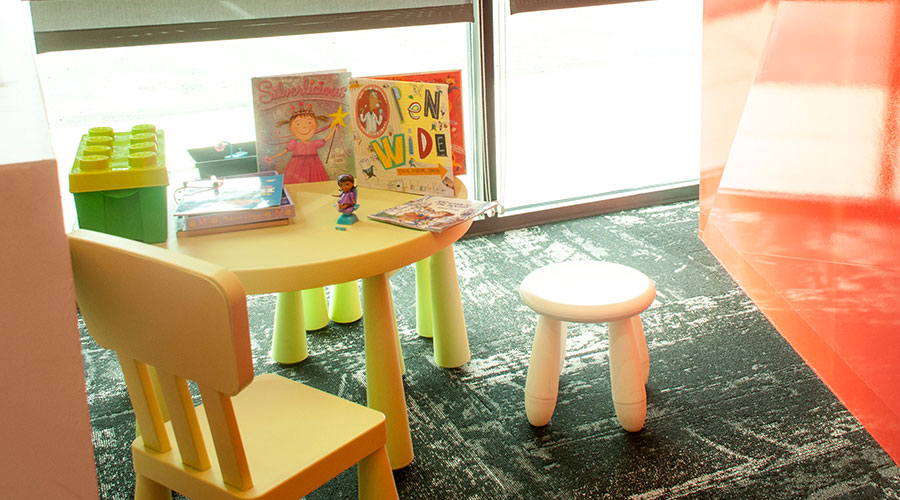 Fun children's waiting area with toys